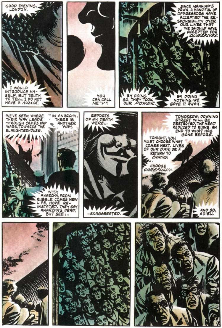 v for vendetta story From plot debriefs to key motifs, thug notes' v for vendetta summary & analysis  has you covered with themes, symbols, important quotes, and more.