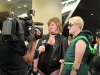 Black Canary and Green Arrow interview cosplay Fan Expo