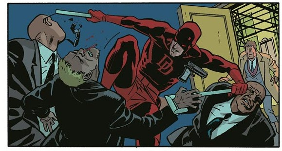 Daredevil, line art by Chris Samnee, colour by Javier Rodriguez, script by Mark Waid, Marvel Comics